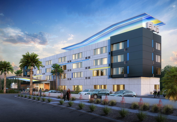 Rendering of the Aloft Glendale at Westgate Hotel