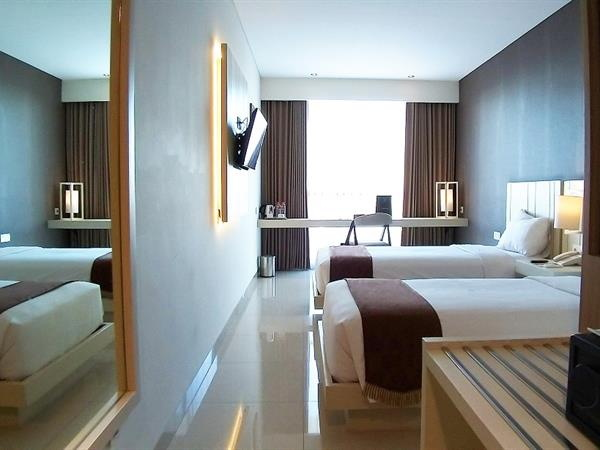 Guestroom at the Swiss-Belinn Gajah Mada Medan Hotel
