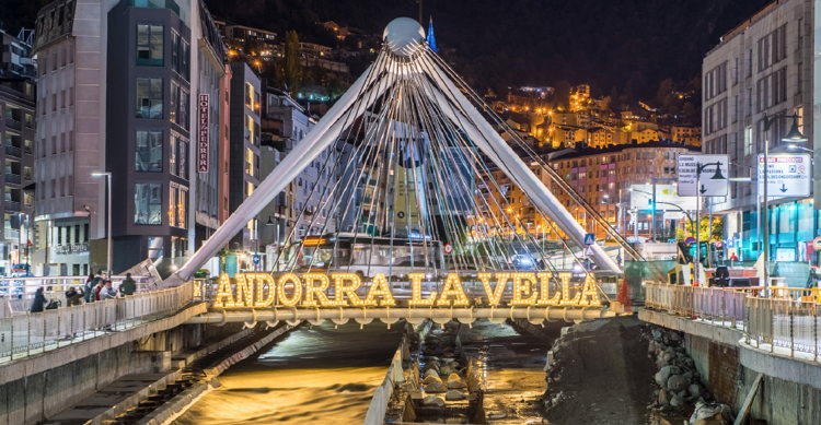 Andorra la Vella, Andorra - Suspension Bridge