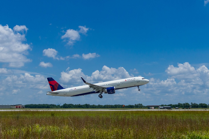 Delta's 50th U.S.-produced A320 Family Airliner Powered with Sustainable Jet Fuel