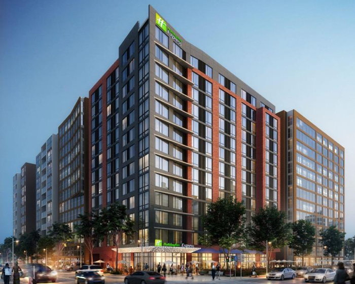 Rendering of the Holiday Inn Express Hotel in Downtown Washington, D.C.
