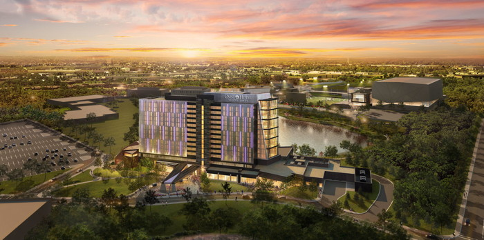 Rendering of the Omni Viking Lakes Hotel