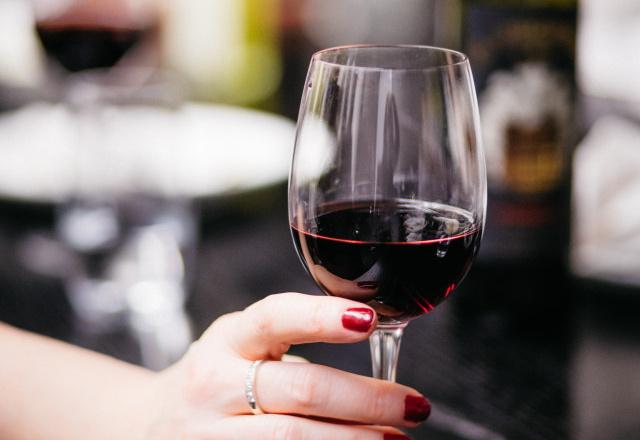 A wine glass