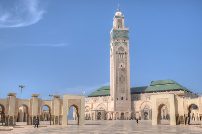 Hassan II Mosque in Casablanca - Photo by John Weinhardt on Unsplash