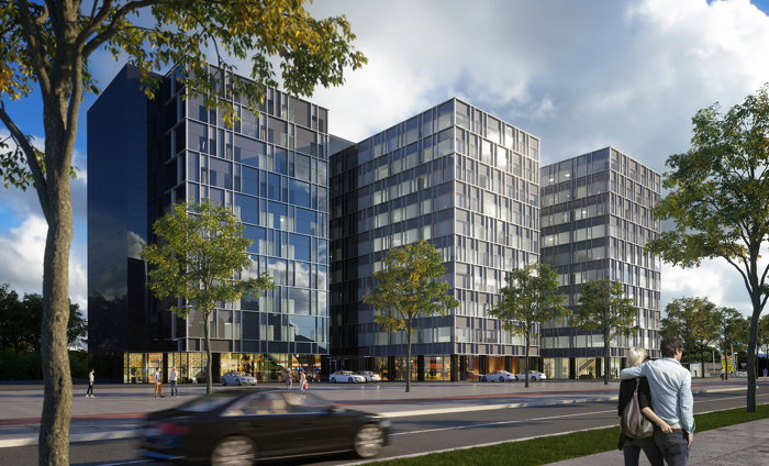 Rendering of the Hilton Garden Inn Zagreb