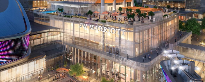 Rendering of the JW Marriott Edmonton ICE District