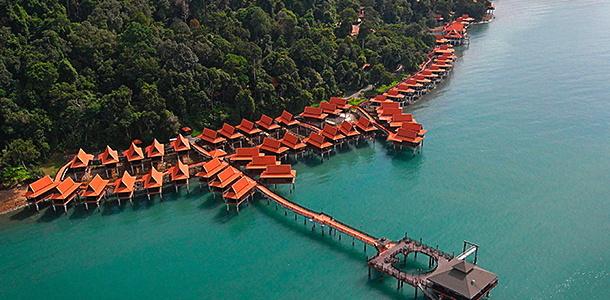 Berjaya Praslin Resort in Seychelles - Aerial view