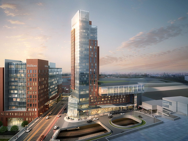 Rendering of the Hilton Columbus Downtown 28-Story Tower Expansion