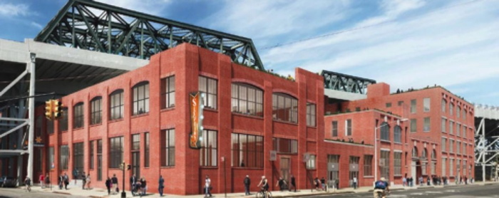 Rendering of the Sixpoint Brewery, from the corner of 9th Street & 2nd Avenue