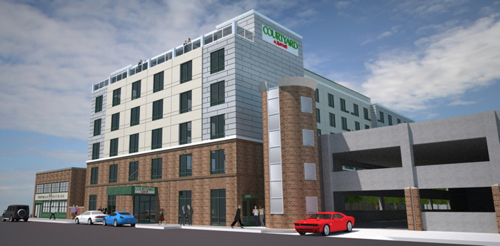 Rendering of the Courtyard by Marriott Winston-Salem