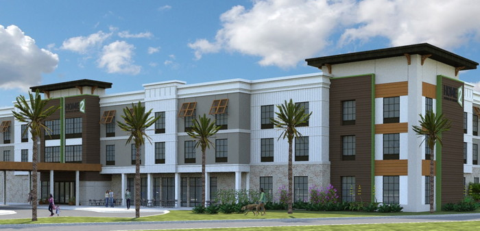 Rendering of the Home2 Suites by Hilton Jekyll Island