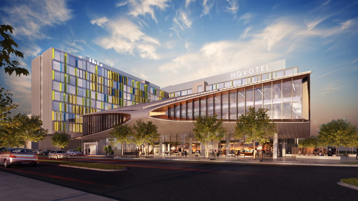 Rendering of the Dual-Branded Accor Melbourne Airport Hotel