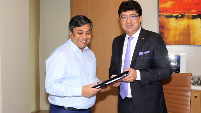 Mr. Vikas Agarwal, Managing Director, Aura Hotels and Resorts Private Limited and Mr. Puneet Chhatwal, Managing Director and Chief Executive Officer, IHCL