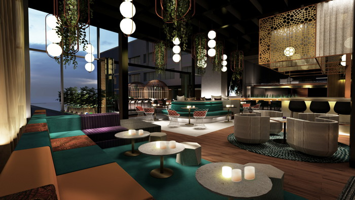 Rendering of the W Toronto Hotel Bar