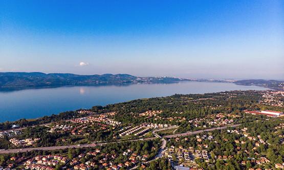Aerial view of Sakarya, Turkey