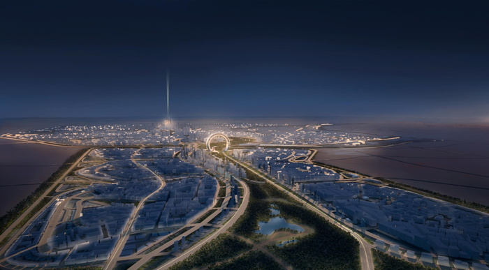 Rendering of the Egypt's New Administrative Capital