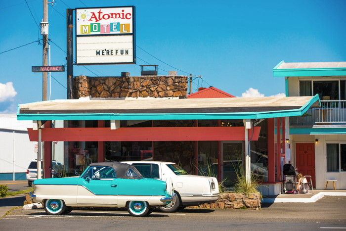 Atomic Motel in Astoria, Oregon - Exterior