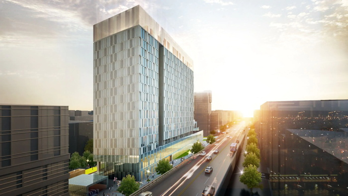 Rendering of the Andaz Seoul Gangnam Hotel
