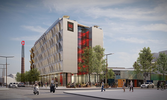 Rendering of the Radisson RED Tallinn Hotel