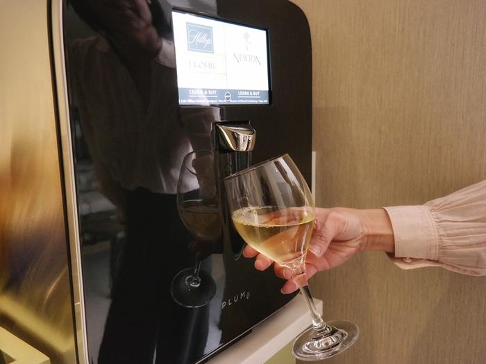 In-room Wine On Demand dispenser