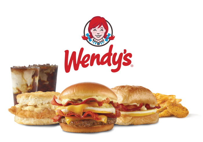 Various Wendy's breakfast items