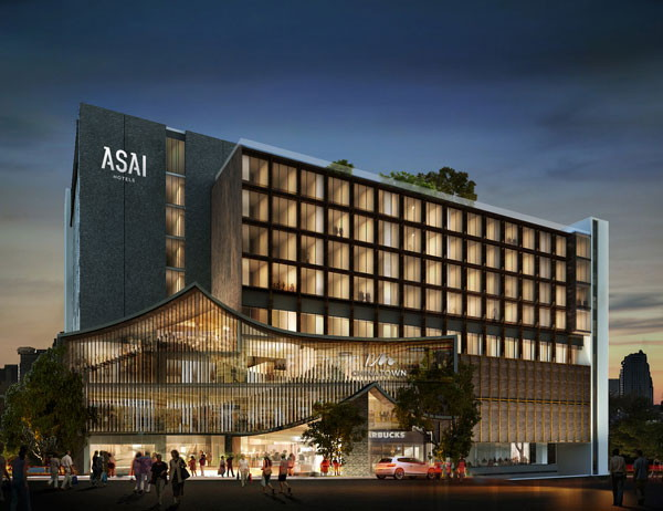Rendering of the ASAI Bangkok Chinatown Hotel