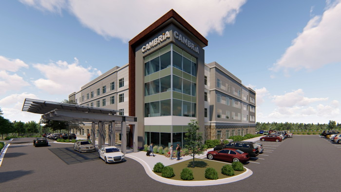 Rendering of the Cambria Hotel Fort Mill