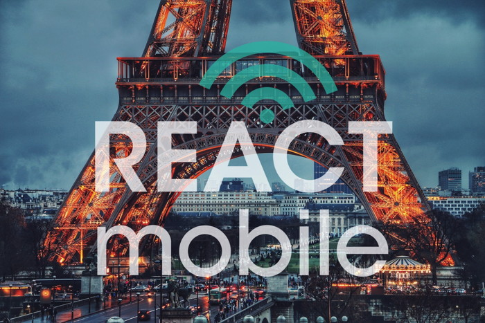 React Mobile logo and the Eiffel Tower