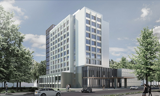 Rendering of the Radisson Blu Hotel, Cluj-Napoca