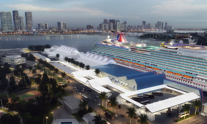 Rendering of the Carnival Corporation Ship Terminal At PortMiami