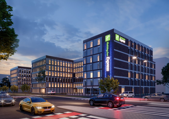 Rendering of the Holiday Inn Express Wroclaw