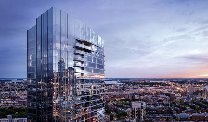 Rendering of the Raffles Boston Back Bay Hotel & Residences