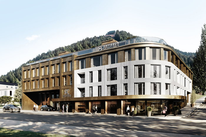 Rendering of the Radisson Collection Hotel Queenstown