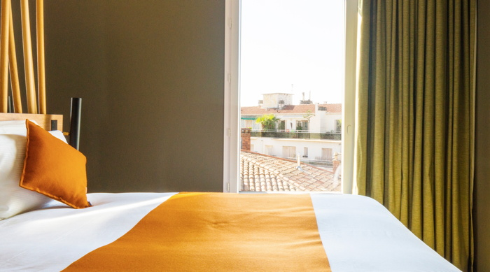 Guestroom at the Louvre Hotels Group hoyel in Montpellier