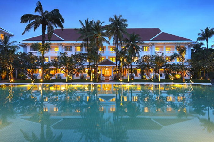 Raffles Grand Hotel d'Angkor's State Wing and Swimming Pool