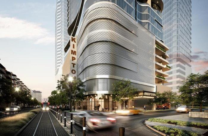 Rendering of the Kimpton Hotel in Houston