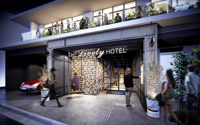 Rendering of the THE LIVELY Azabu-Juban Tokyo Hotel