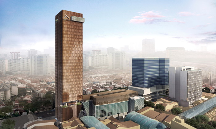 Rendering of the The Clan Hotel Singapore