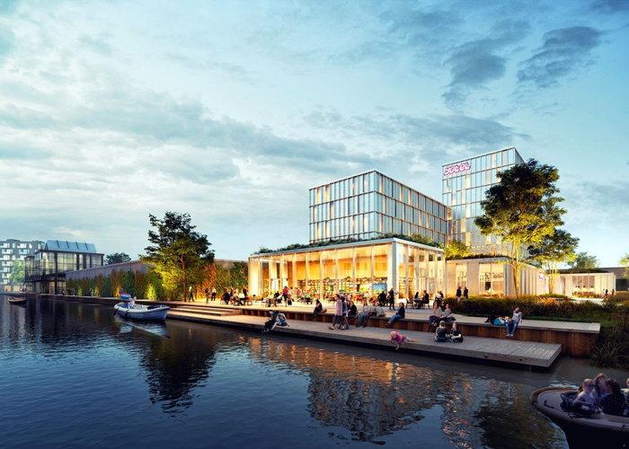 Rendering of the YOTEL Amsterdam
