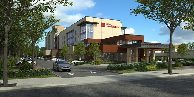 Rendering of the Hilton Garden Inn Sunnyvale