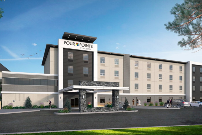 Rendering of the Four Points by Sheraton in Vaughan, Ontario