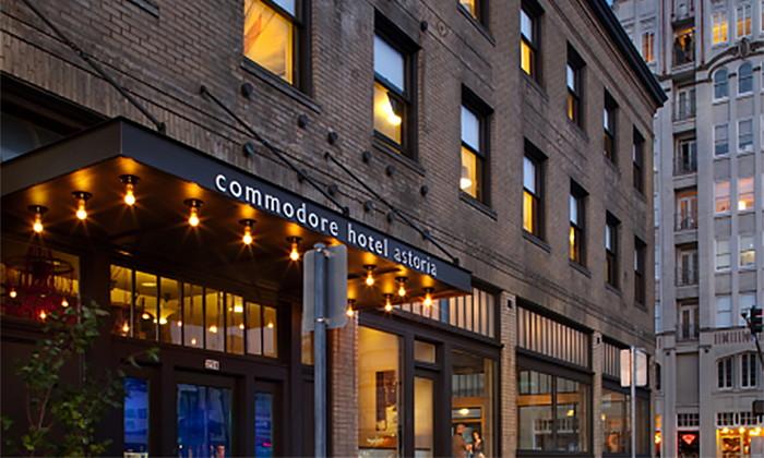Commodore Hotel in Astoria, Oregon - Exterior