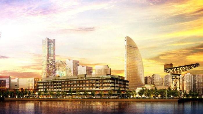 Rendering of the InterContinental Yokohama Pier 8 Hotel