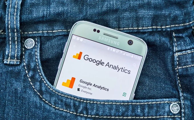 Google Analytics on a mobile phone screen