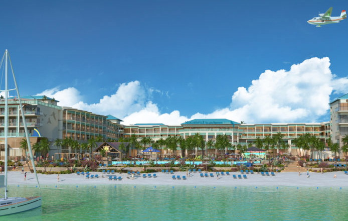 Rendering of the Margaritaville Island Reserve by Karisma Riviera Cancún