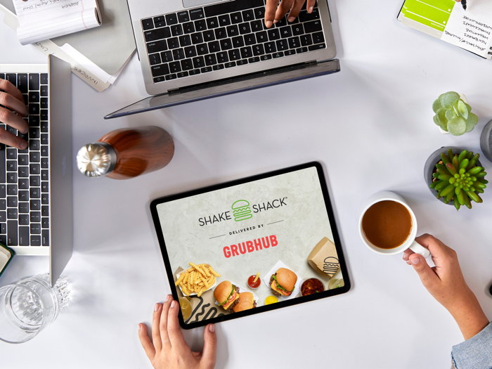 Shake Shack on a tablet computer