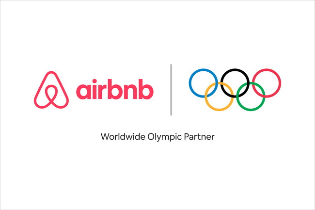 Airbnb and IOC logos