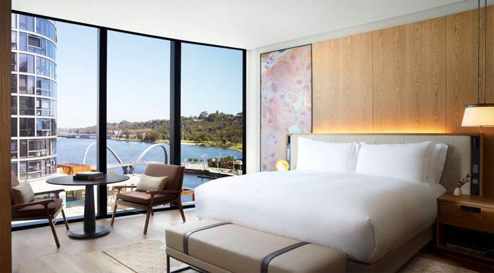 Guestroom at The Ritz-Carlton Perth