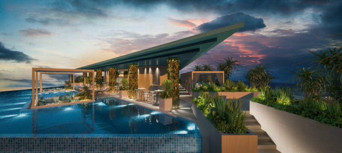 Fusion Suites Vung Tau Rooftop Pool Bar