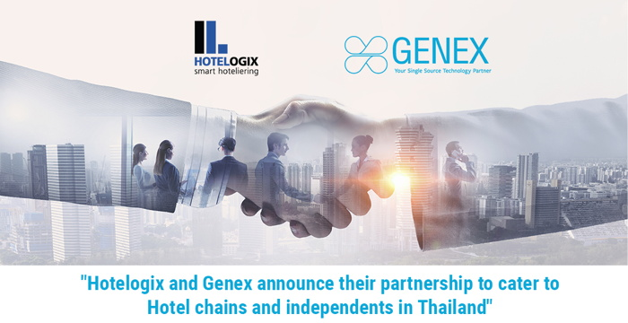 Hotelogix and Genex logos